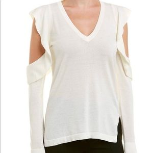 BCBGMAXAZRIA Emile Cold-Shoulder Sweater .